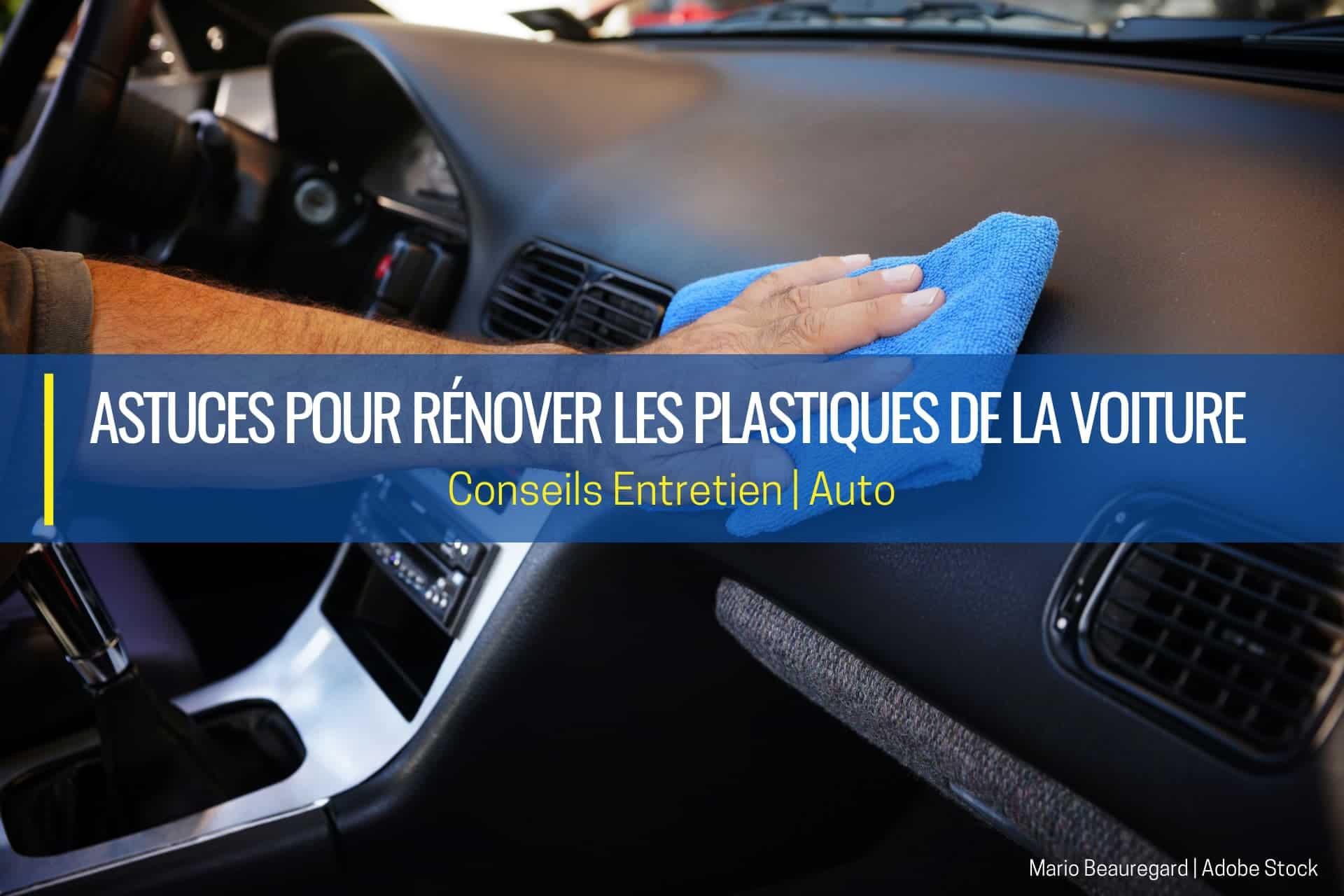rénover les plastiques de la voiture