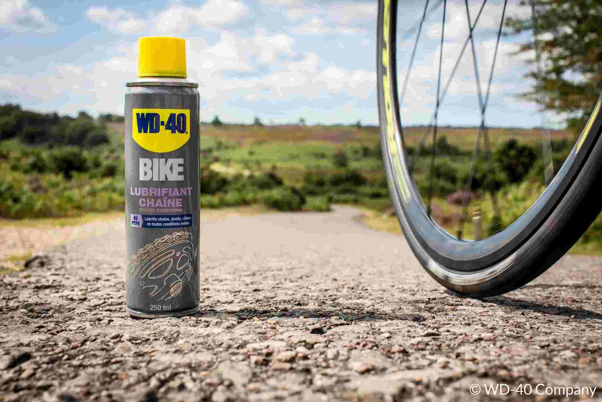 Graisse et lubrifiant pour chaîne de vélo: connaissez-vous WD-40 BIKE?