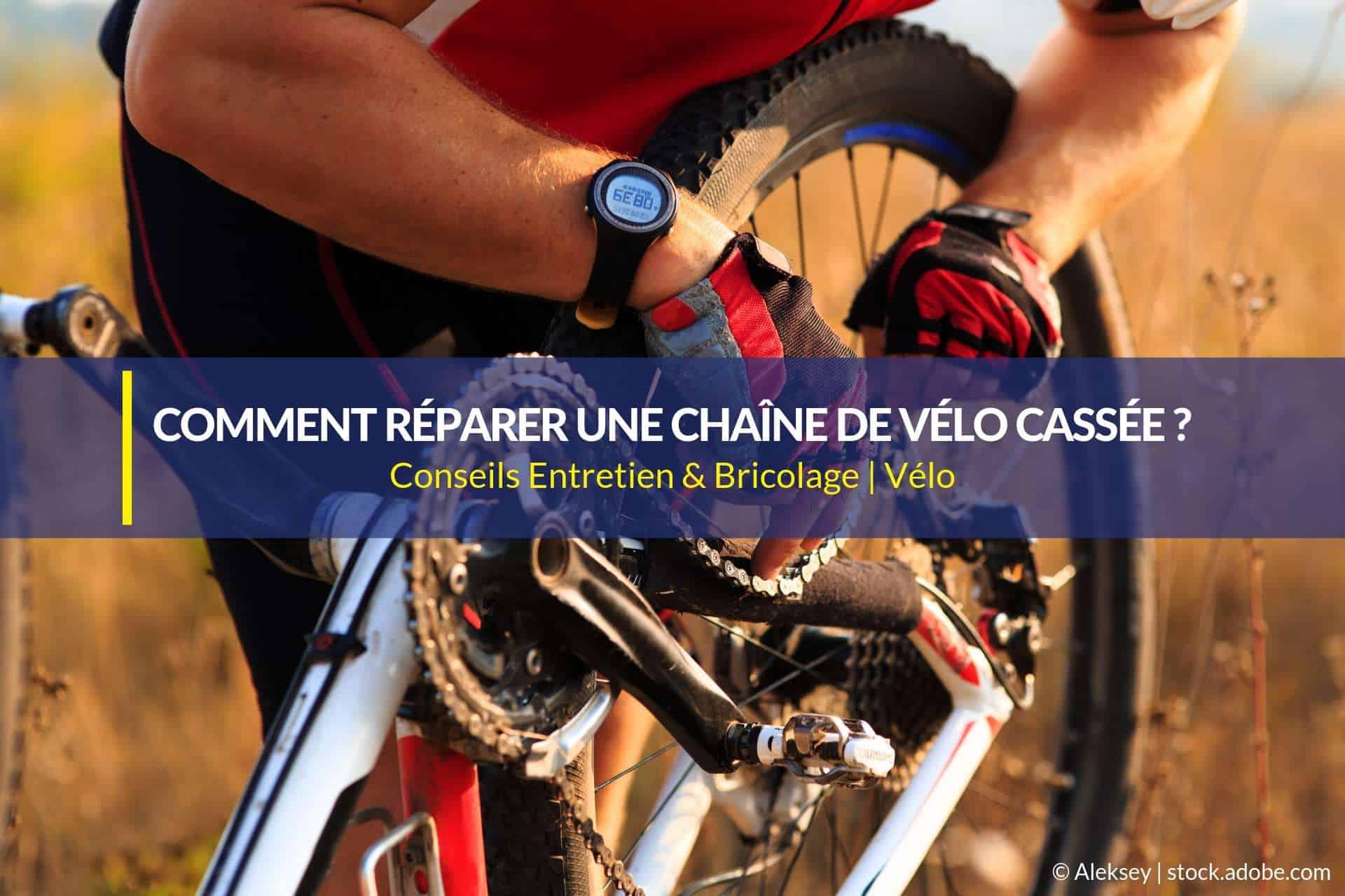 réparer chaîne de vélo