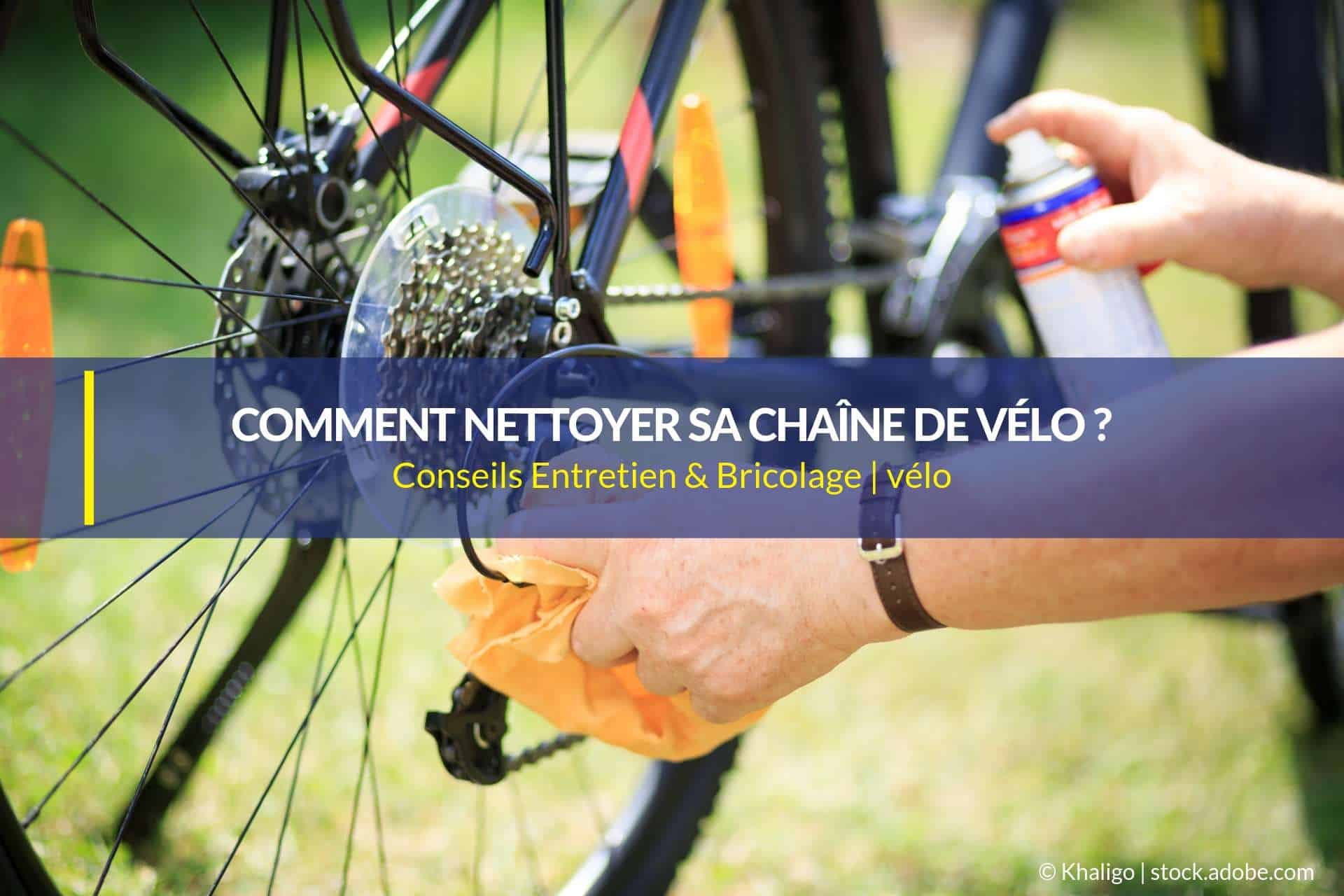 nettoyer une chaîne de vélo