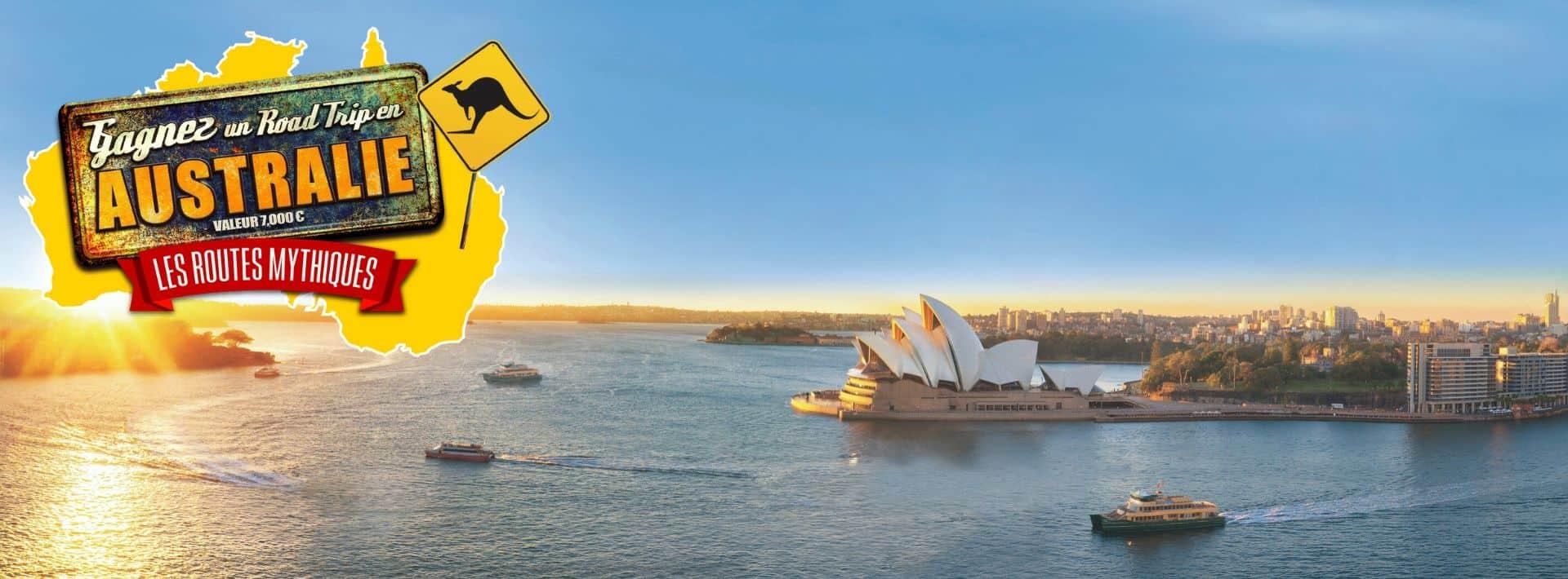 Jeu concours Road trip Australie