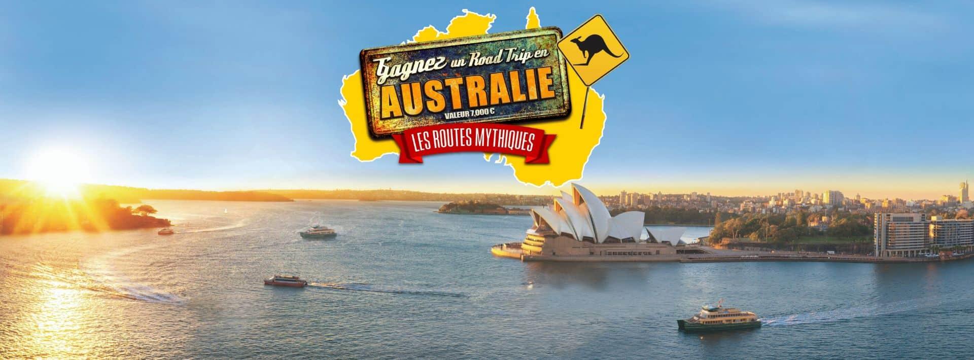 Jeu concours gagnez un road trip en Australie