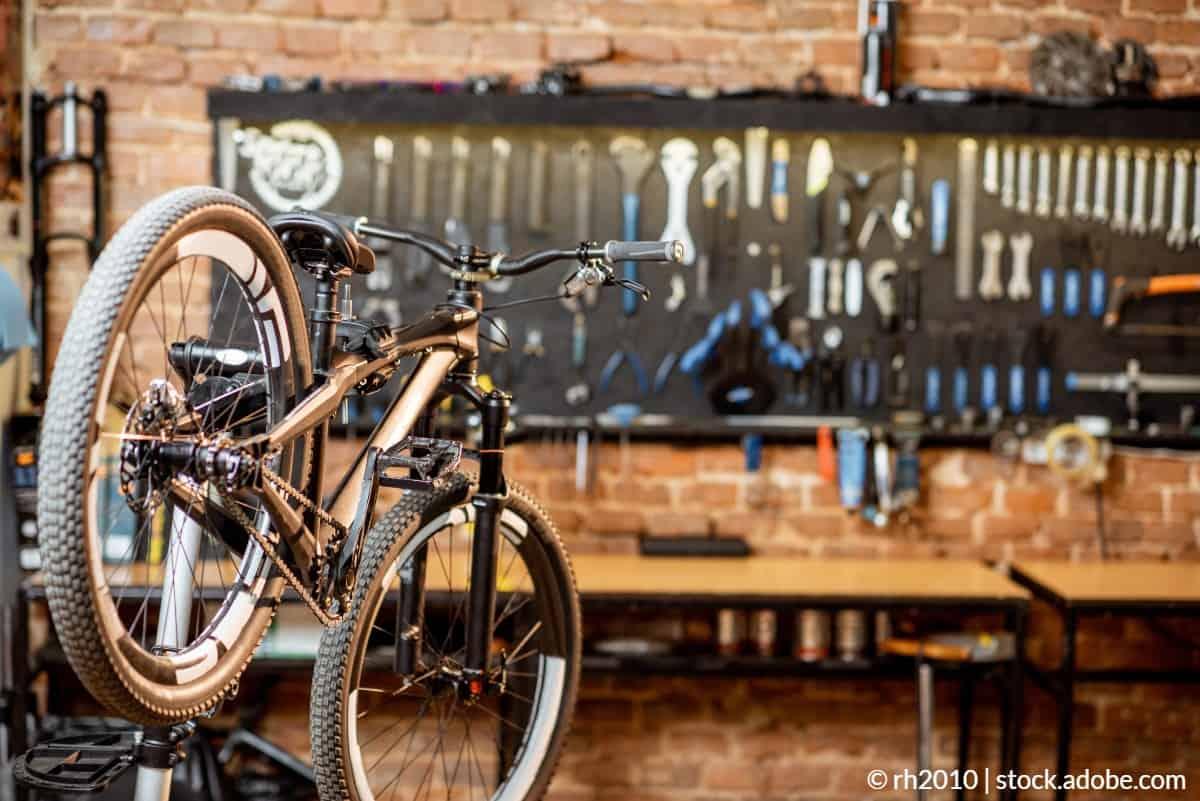 pied d'atelier vélo
