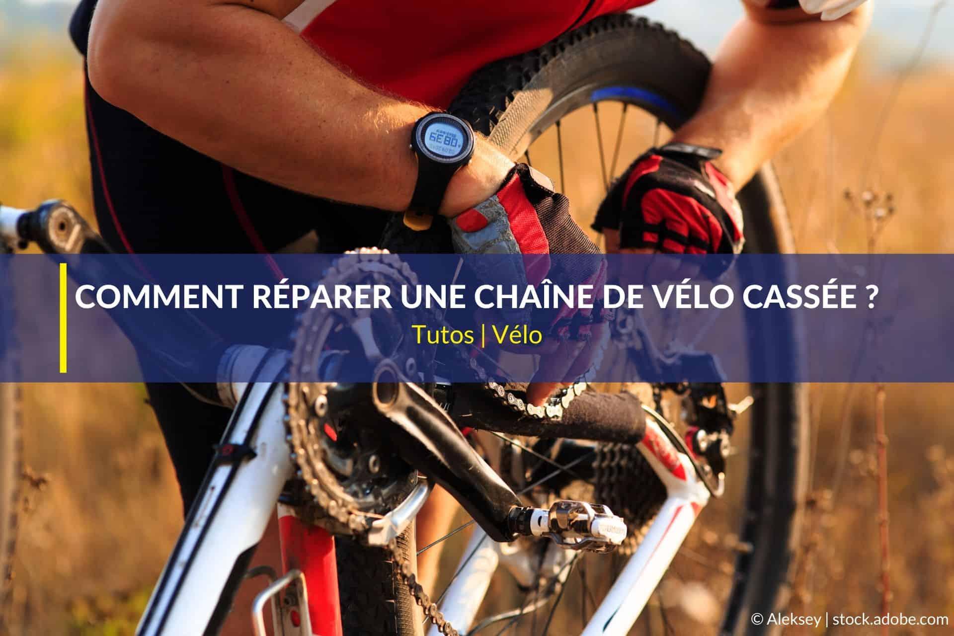 réparer chaîne de vélo cassée