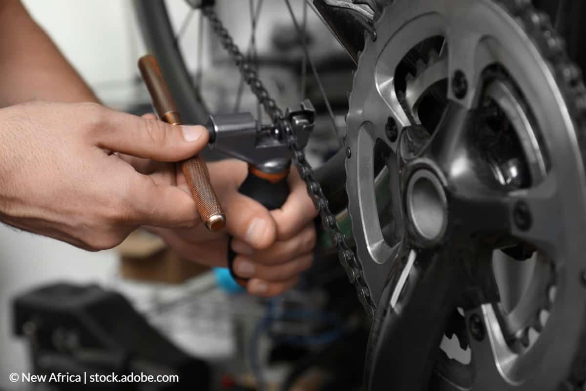 démonter chaîne de vélo