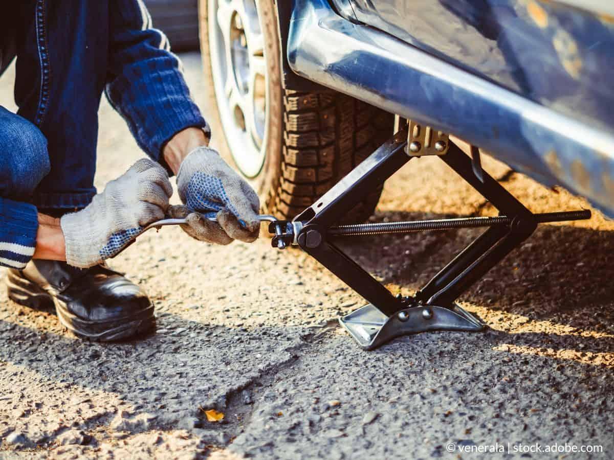 cric pour changer roue