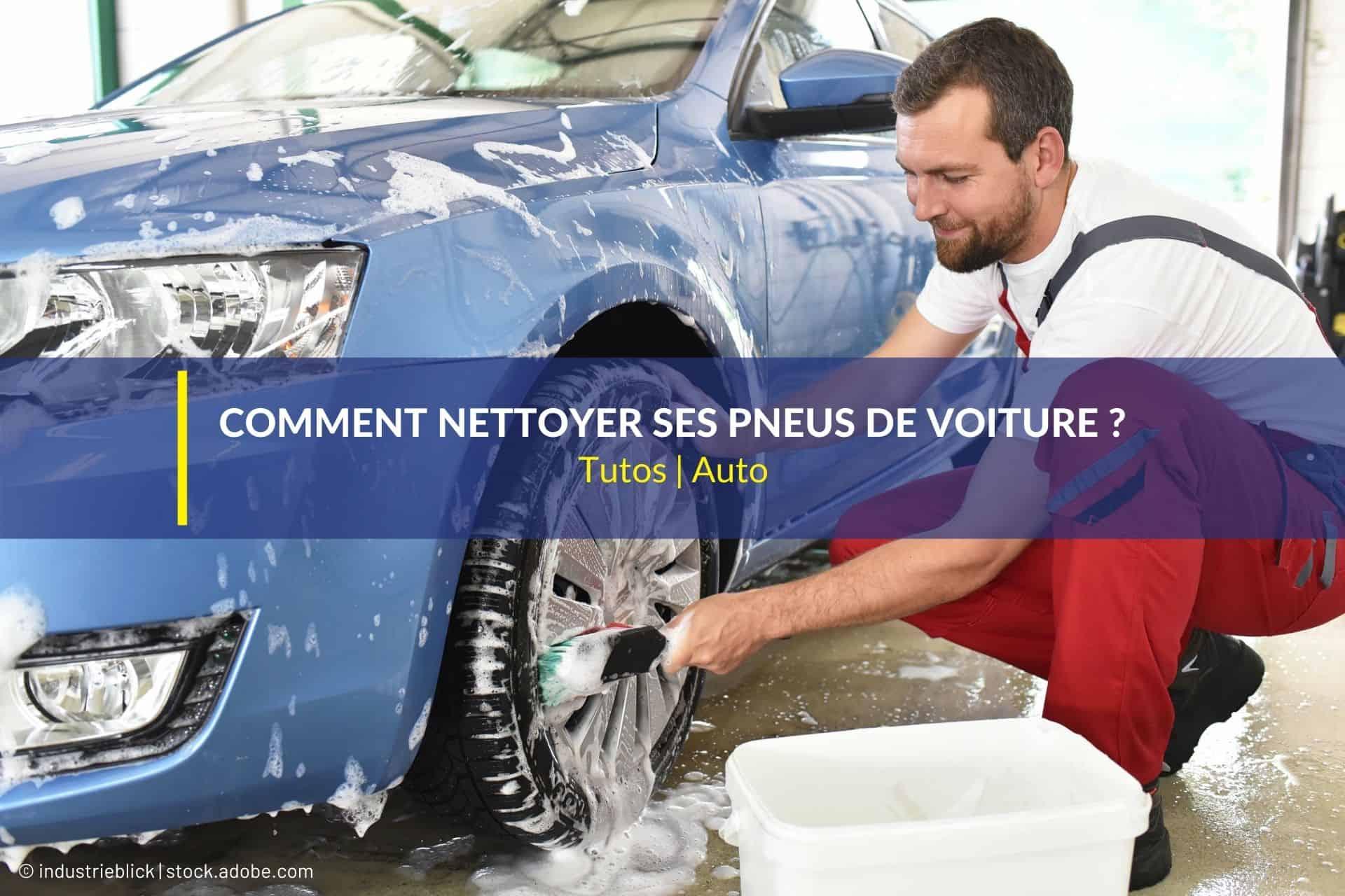 nettoyer pneus voiture