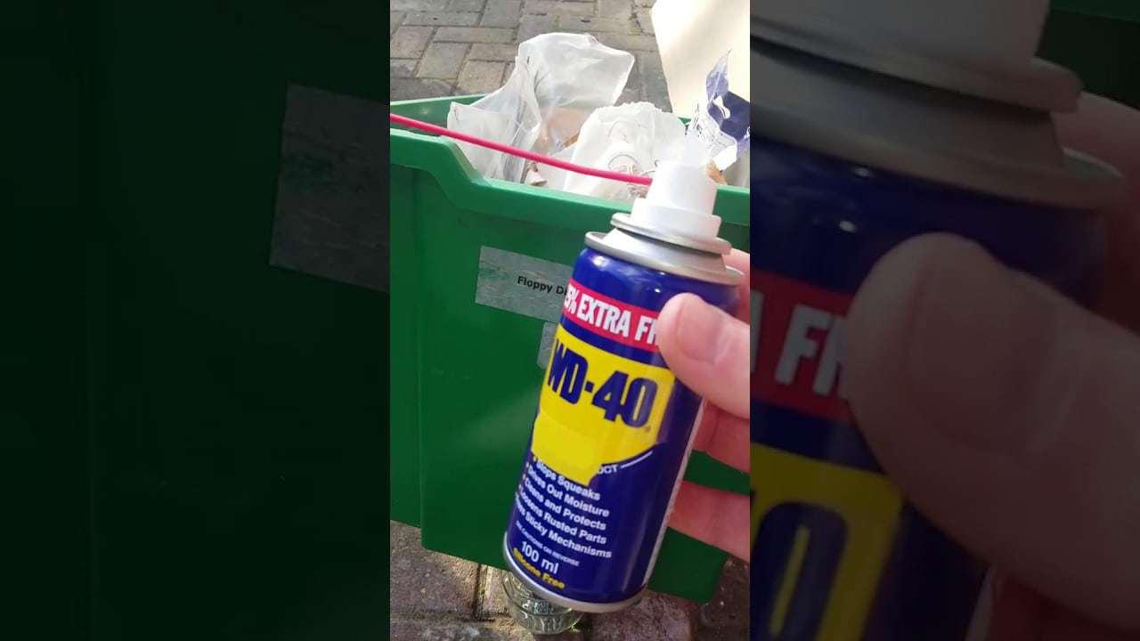 wd40 remove stickers