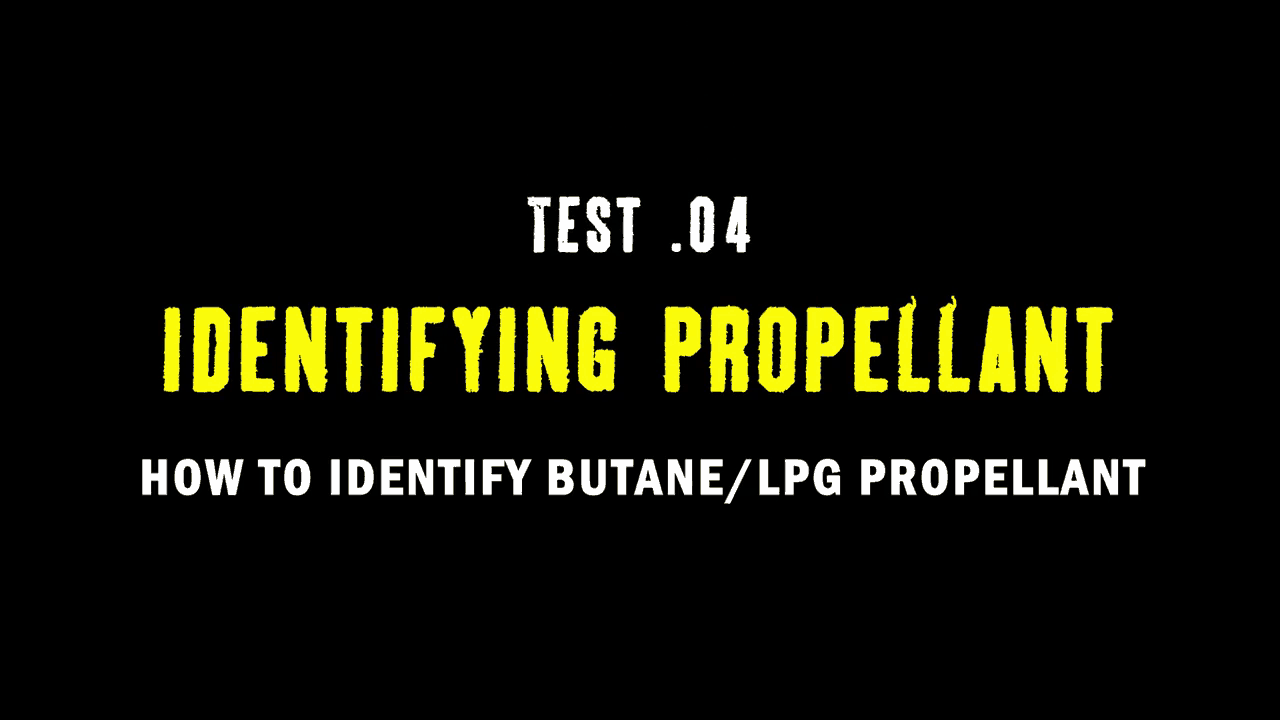 Test 04 Identifying Propellant