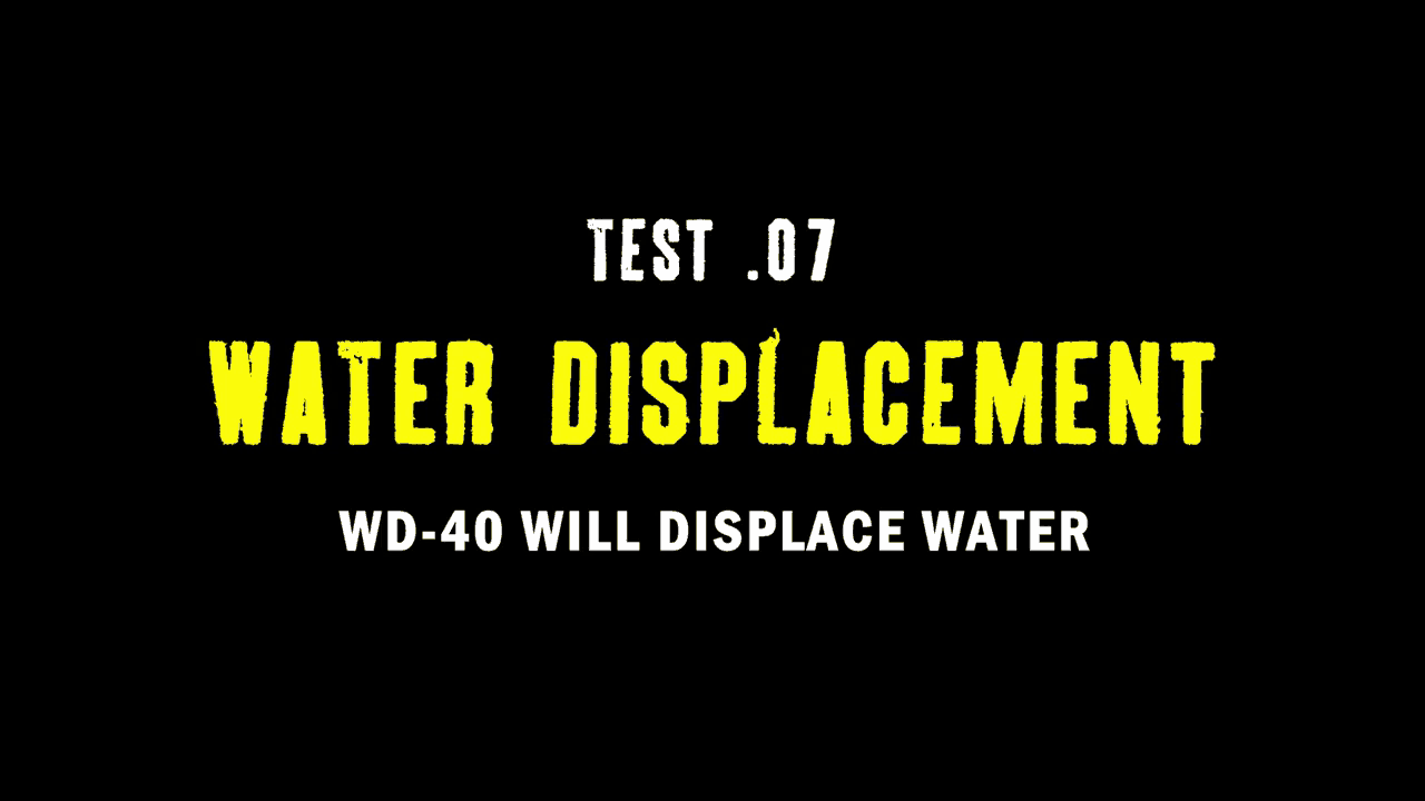 Test 07 Water Displacement