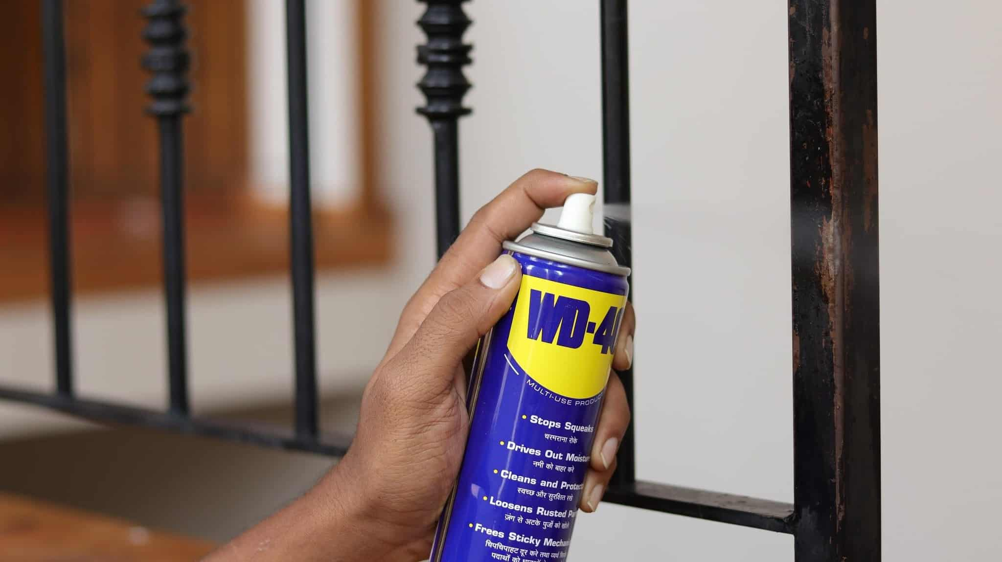 using WD40 to remove rust