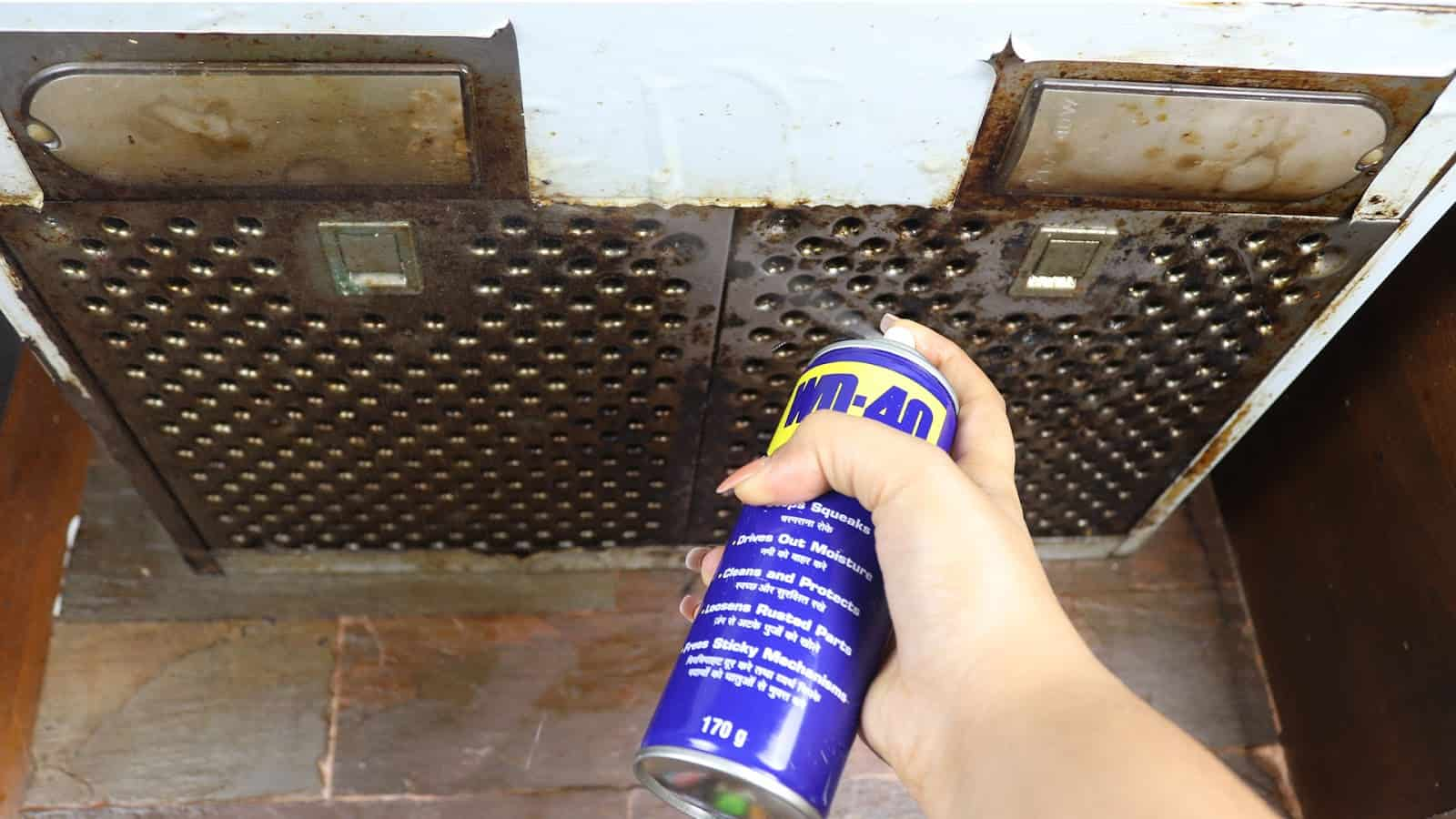 clean chimney using wd40
