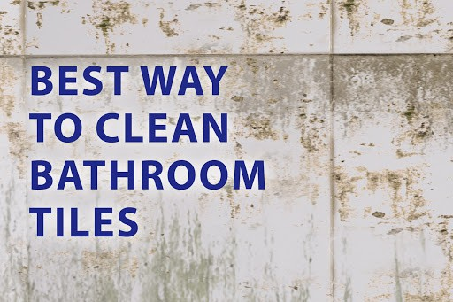 clean bathroom tiles