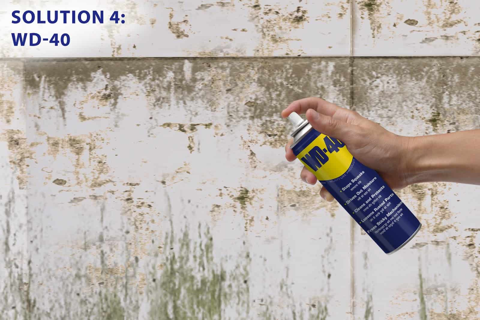 clean bathroom tiles using wd40
