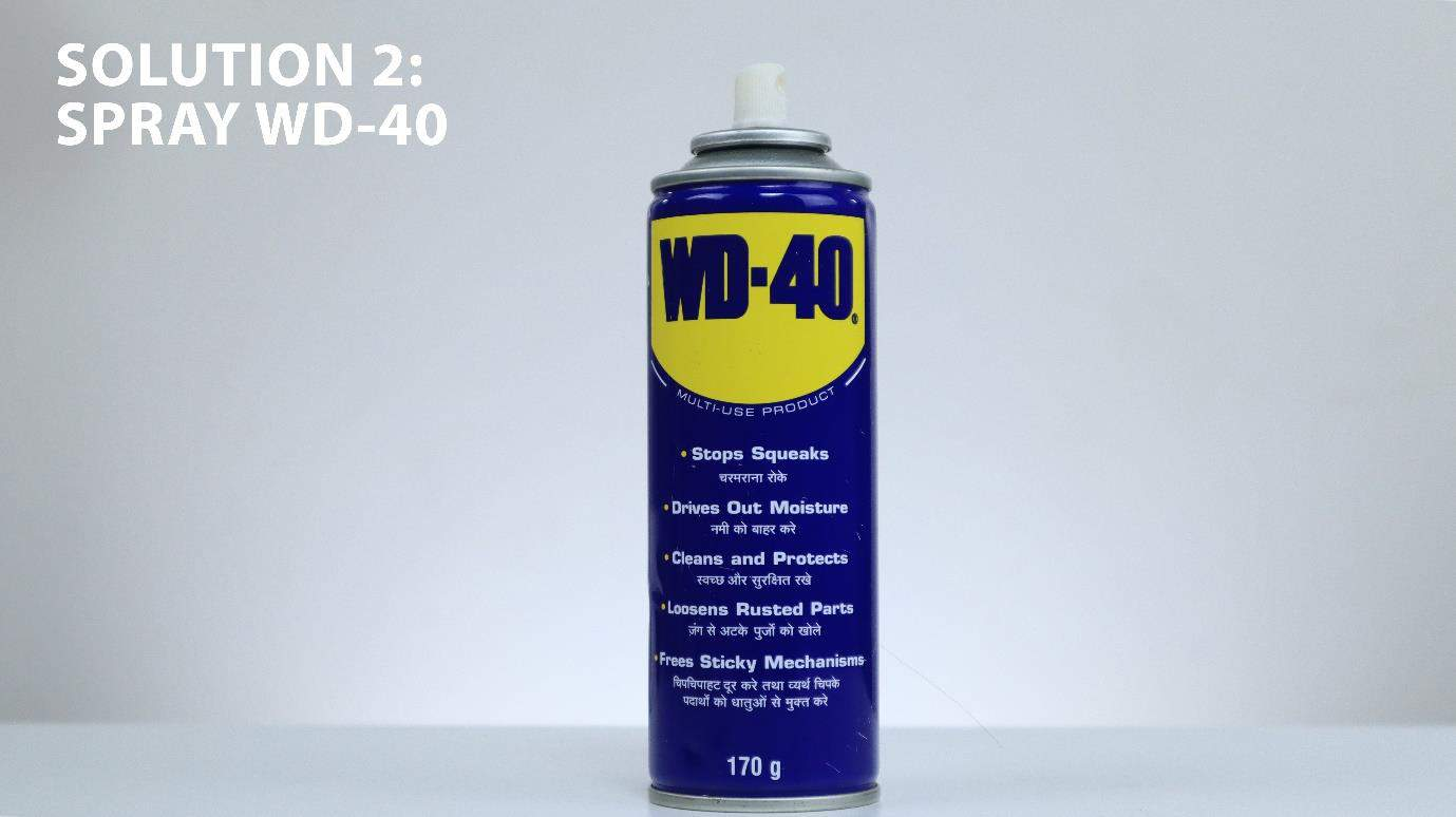 Using wd40 to clean steel