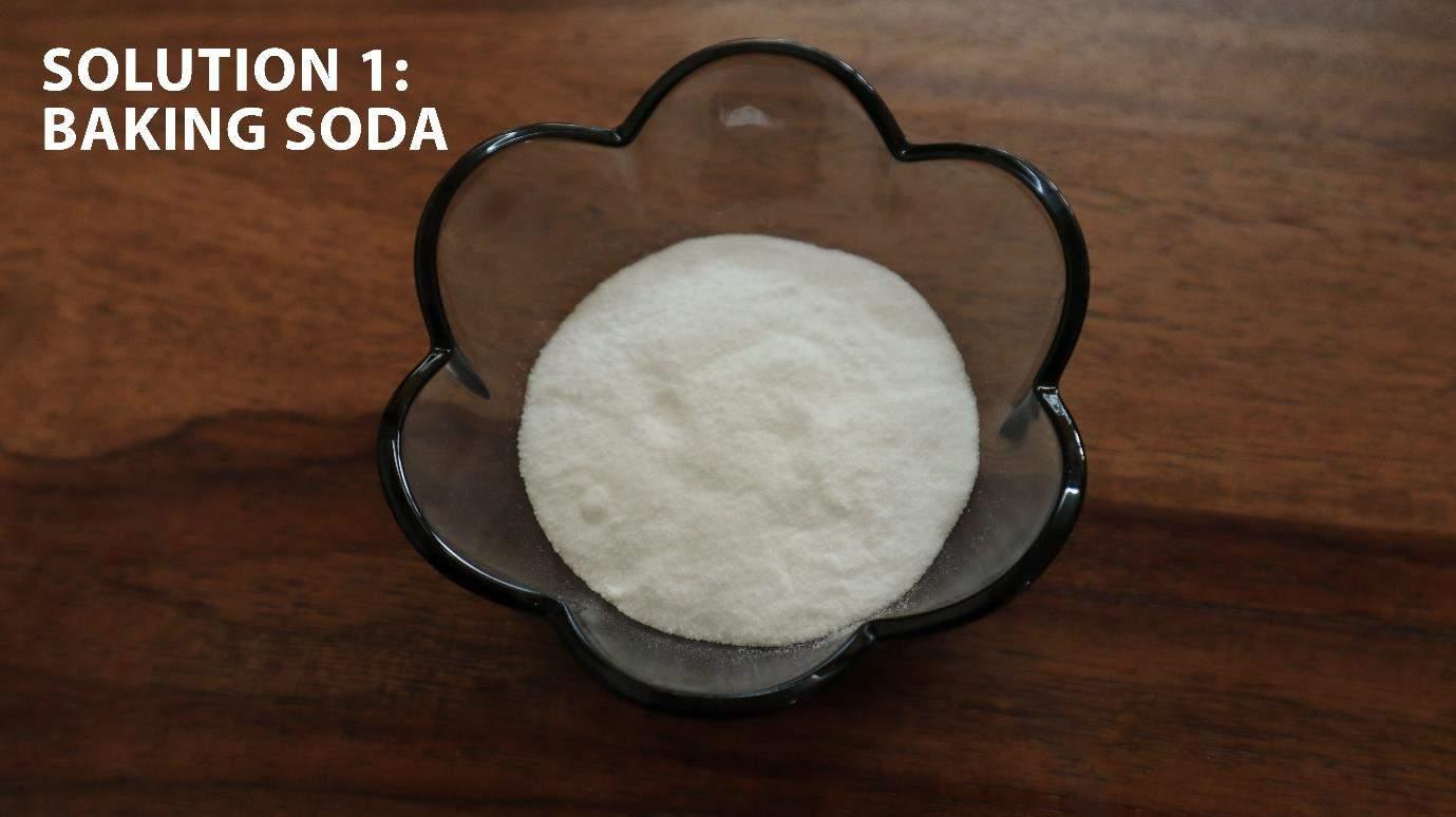 baking soda to clean steel