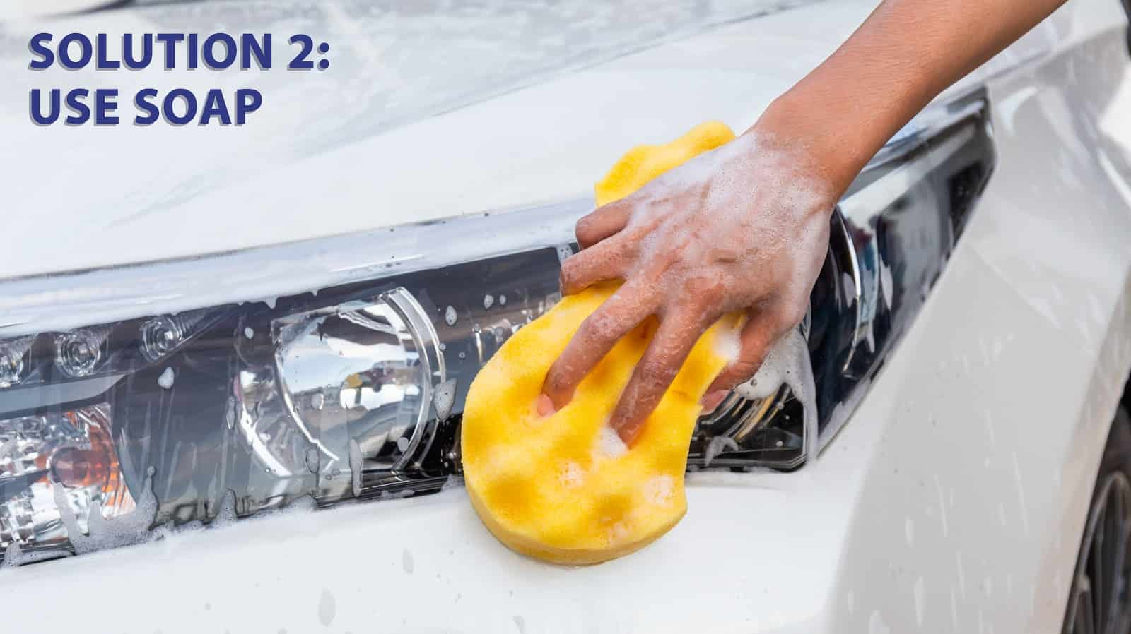 using soap to clean headlights