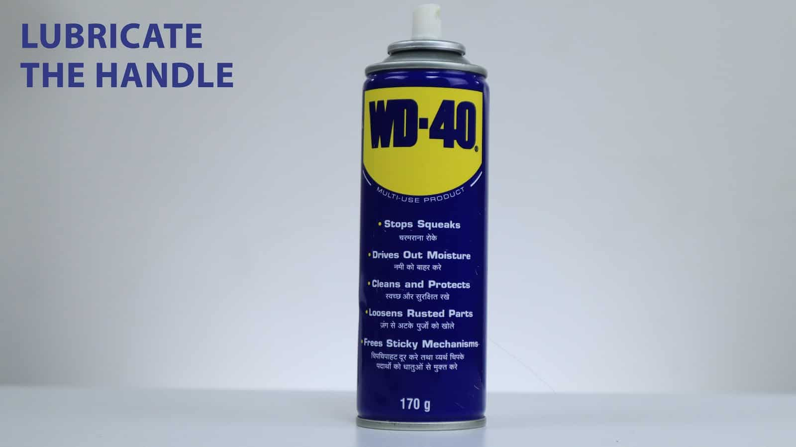 using wd40 for Jammed luggage handles