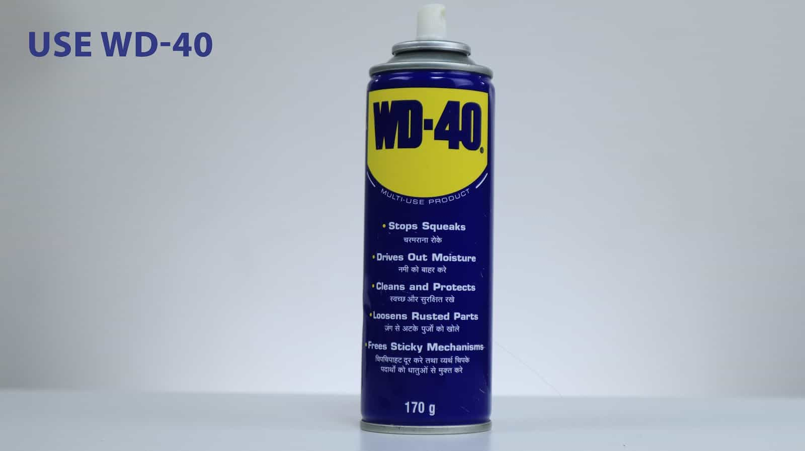using wd40 for cleaning tricycle