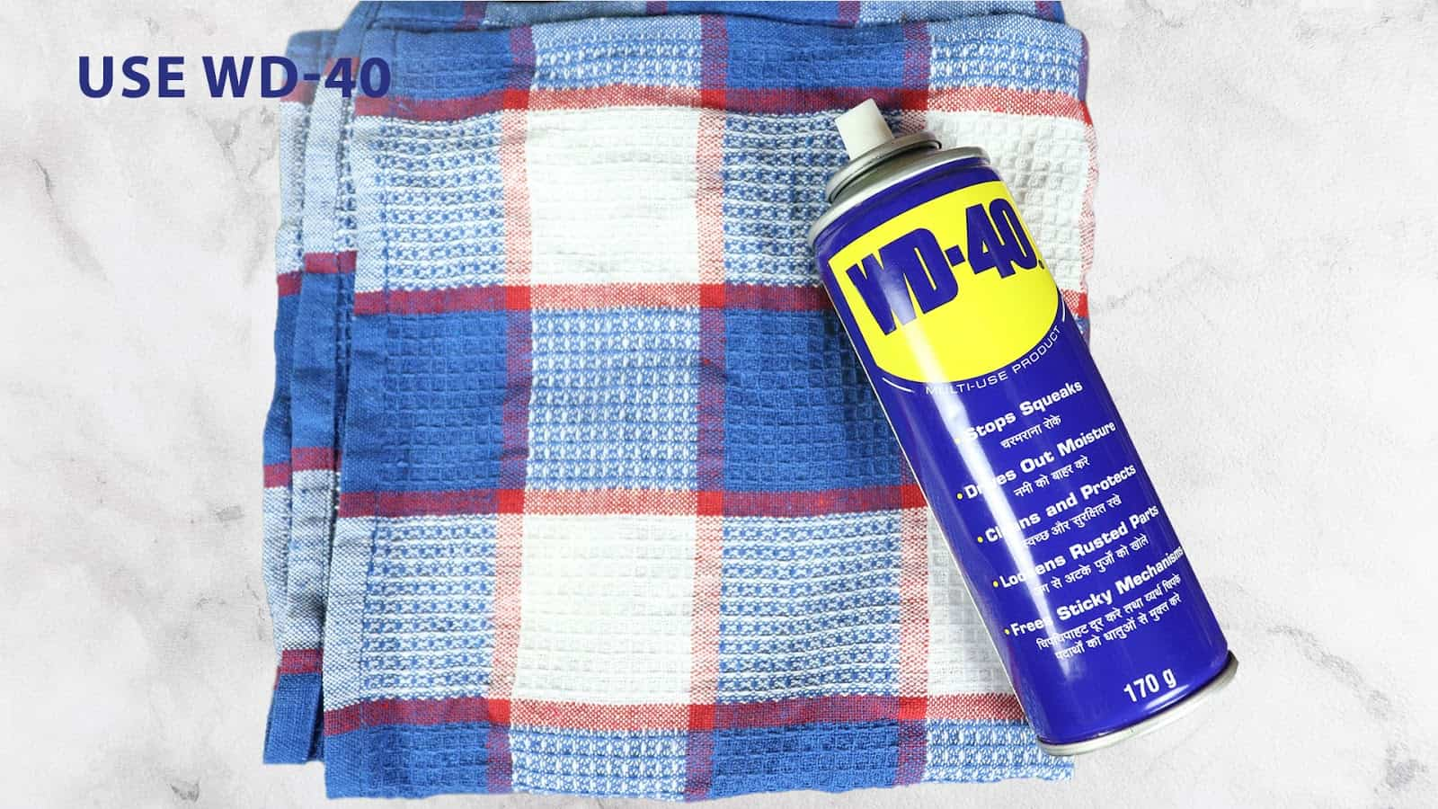use wd40 to remove carpet stains