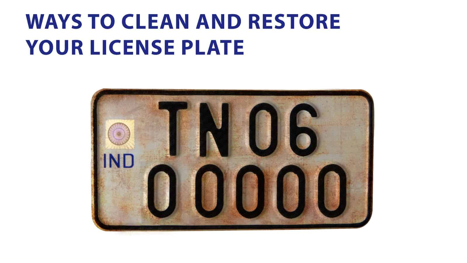 clean license plate