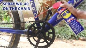 spray wd 40 on the chain