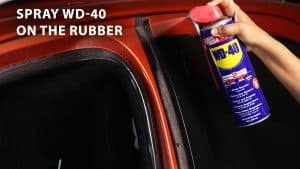 spray wd 40 on the rubber