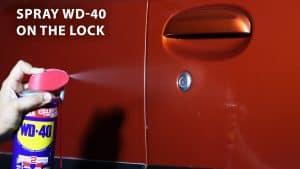 spray wd 40 on the lock