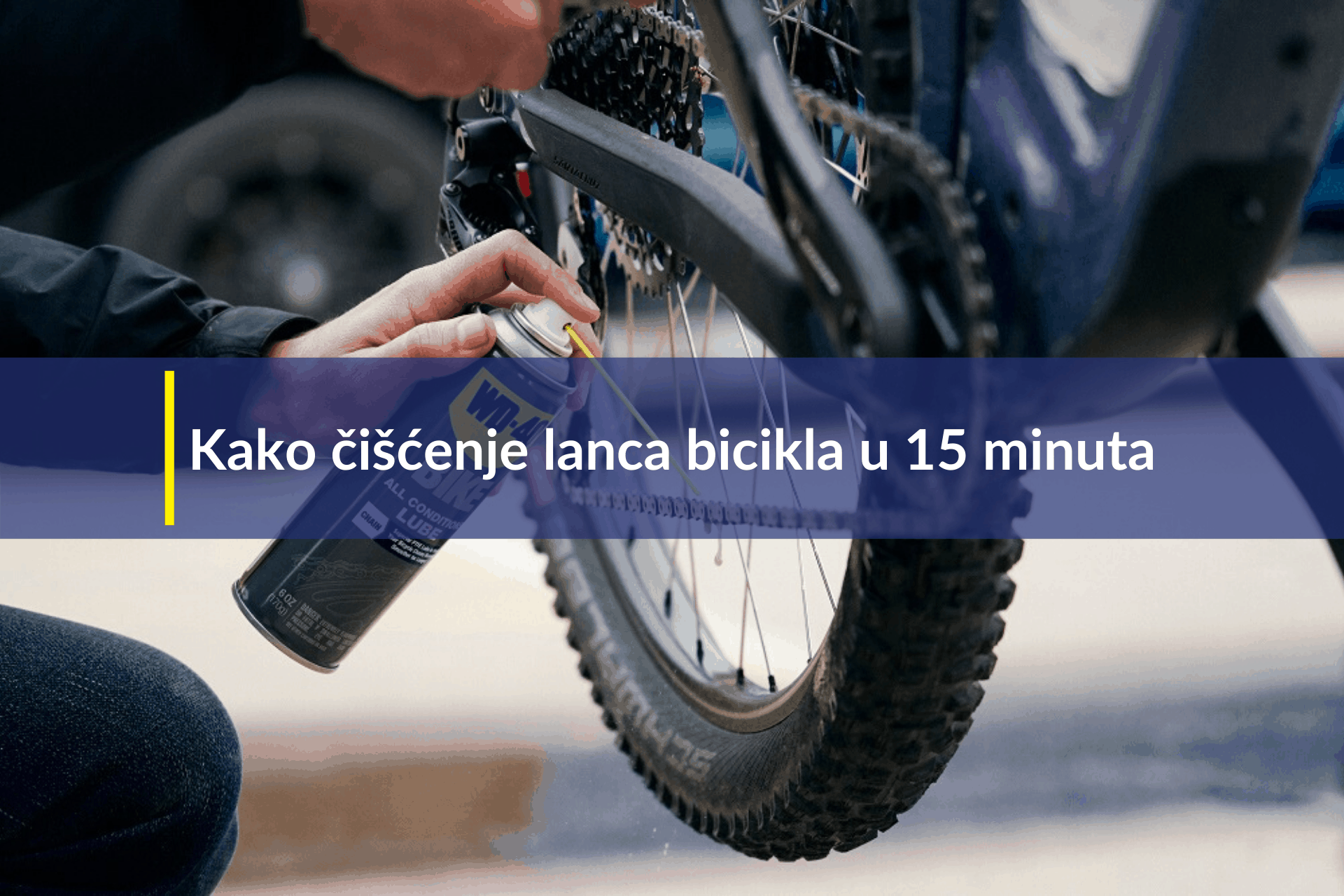 kako čišćenje lanca bicikla u 15 minuta