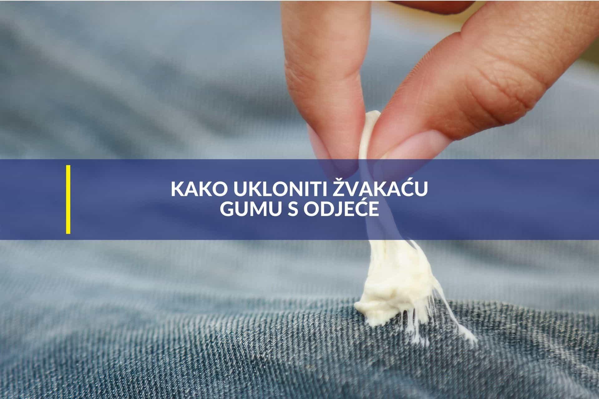 ukloniti žvakaću gumu s odjeće