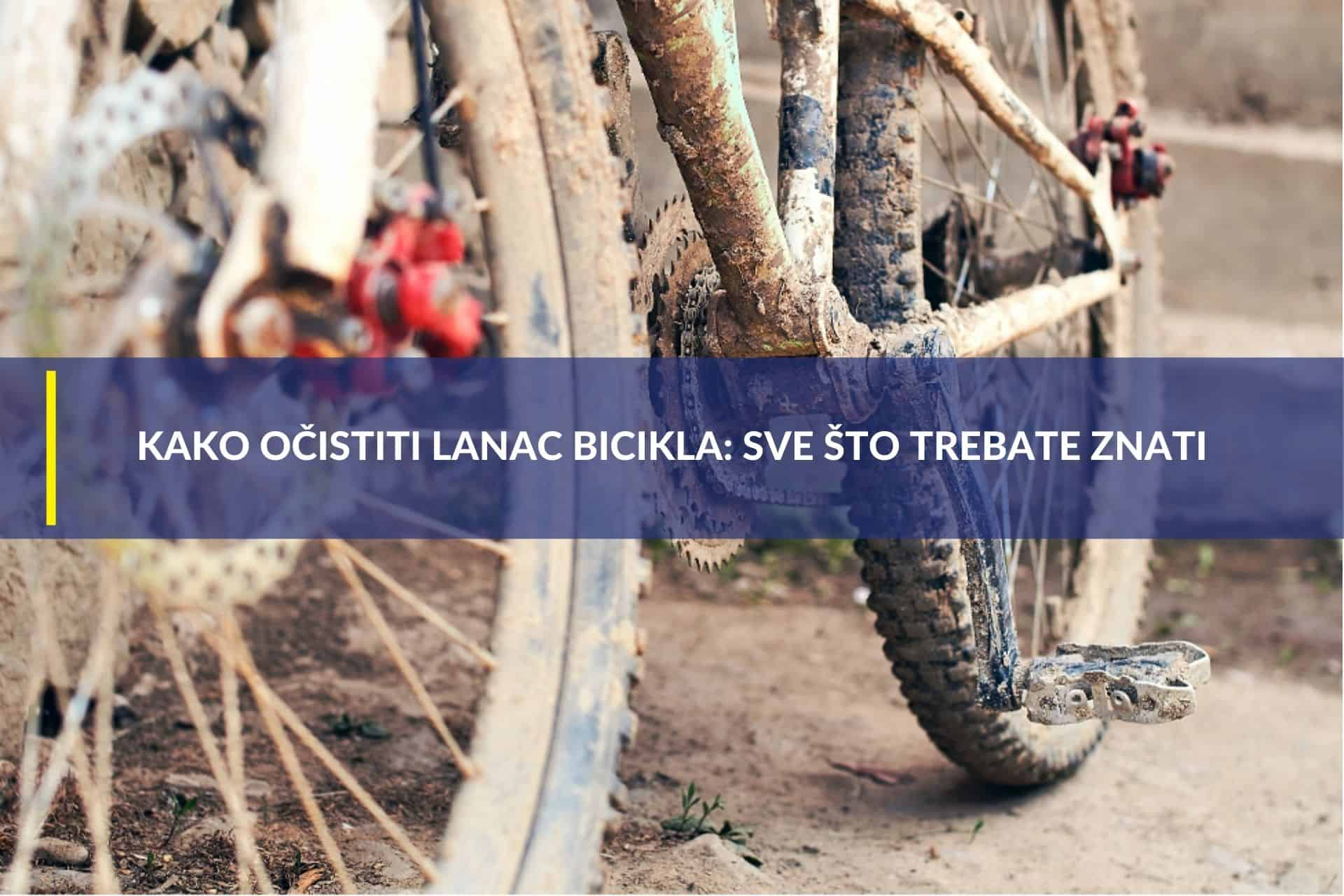 prljavi lanac bicikla