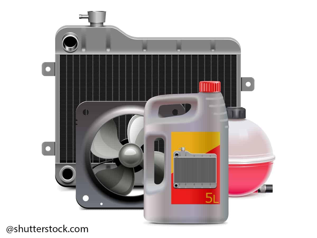 hladnjak automobila pranje kemijskim pripremama