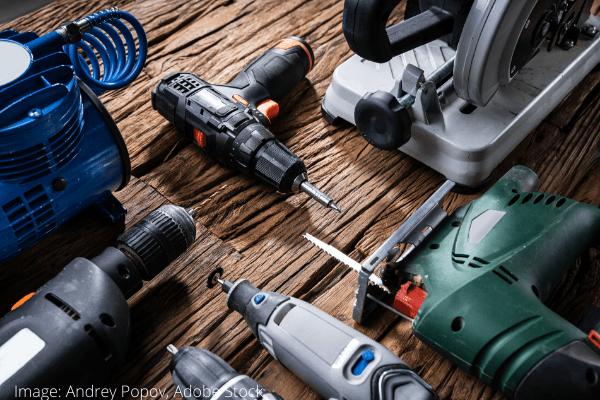 osušeni električni alat
