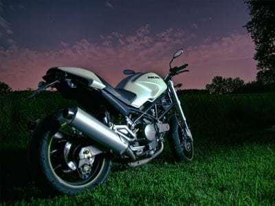 clean motorbike