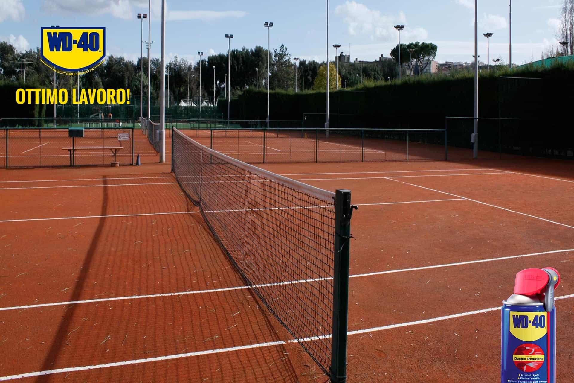 come lubrificare i meccanismi della rete da tennis bis