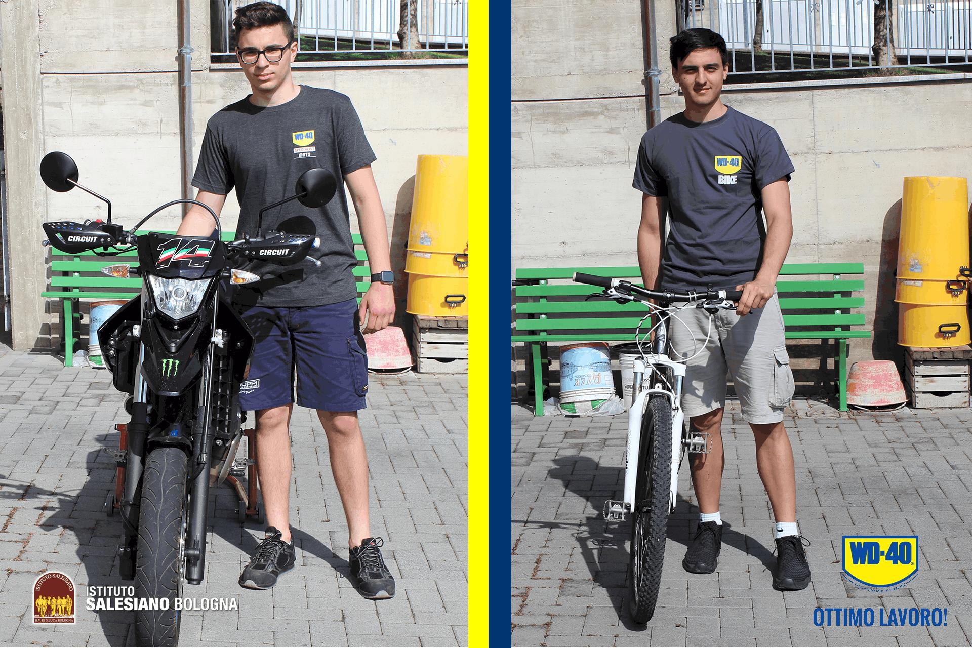 Manutenzione moto e bici con gli studenti dei Salesiani di Bologna