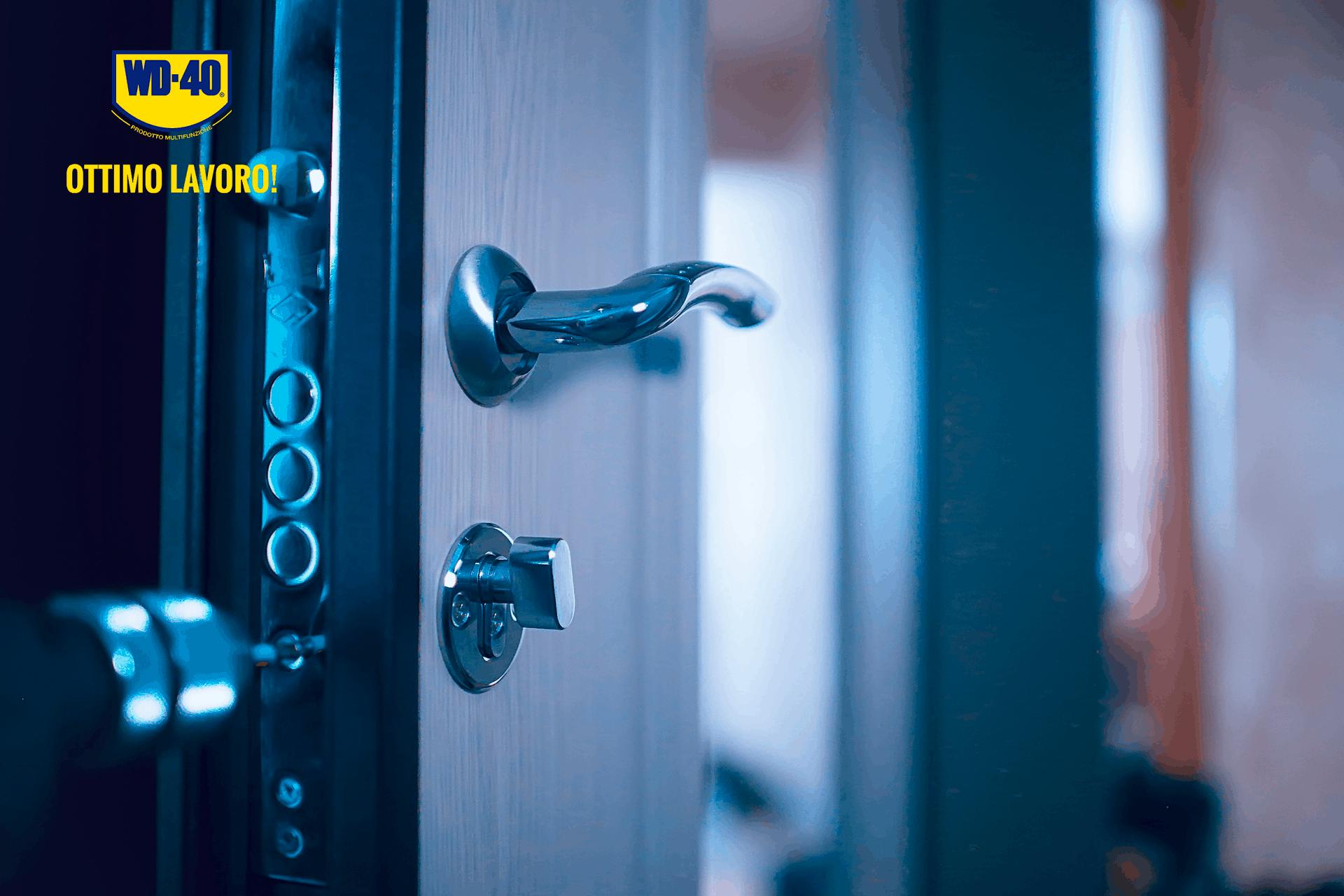lubrificare serratura porta blindata