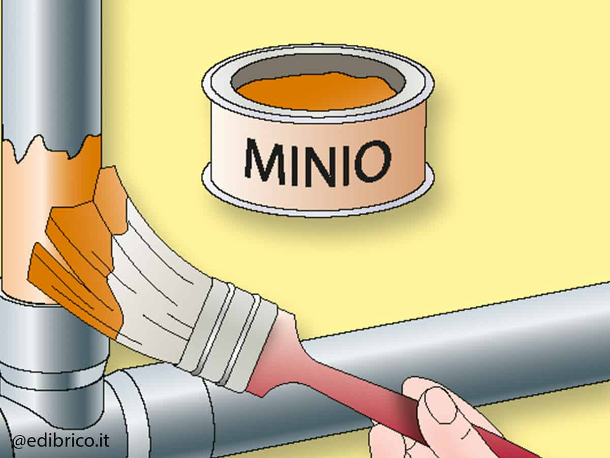 applicazione del minio cancelli di ferro