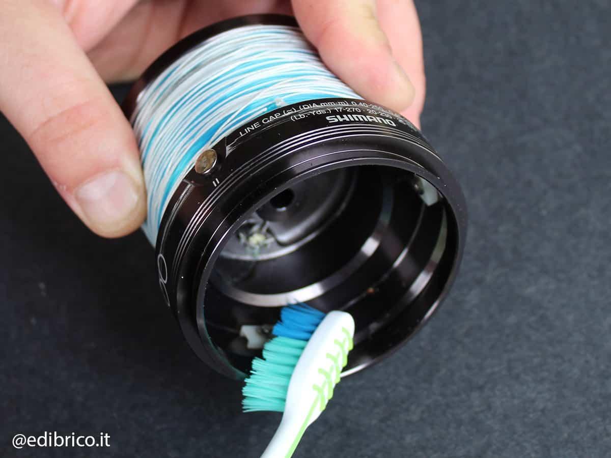 pulizia bobina spazzolino