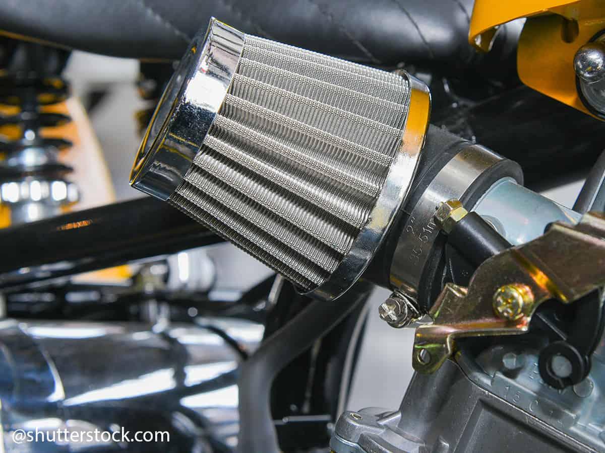 filtro aria carburatore moto