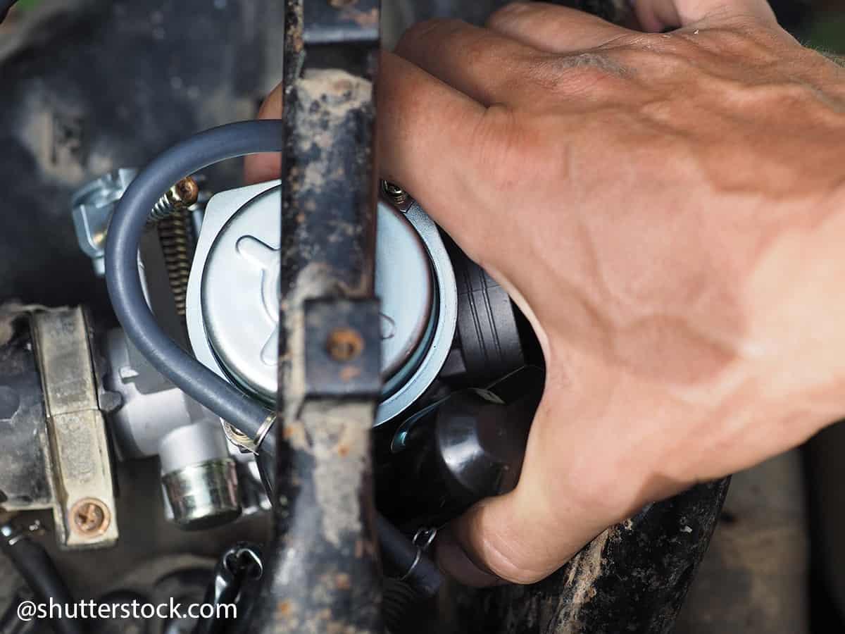 asportazione carburatore