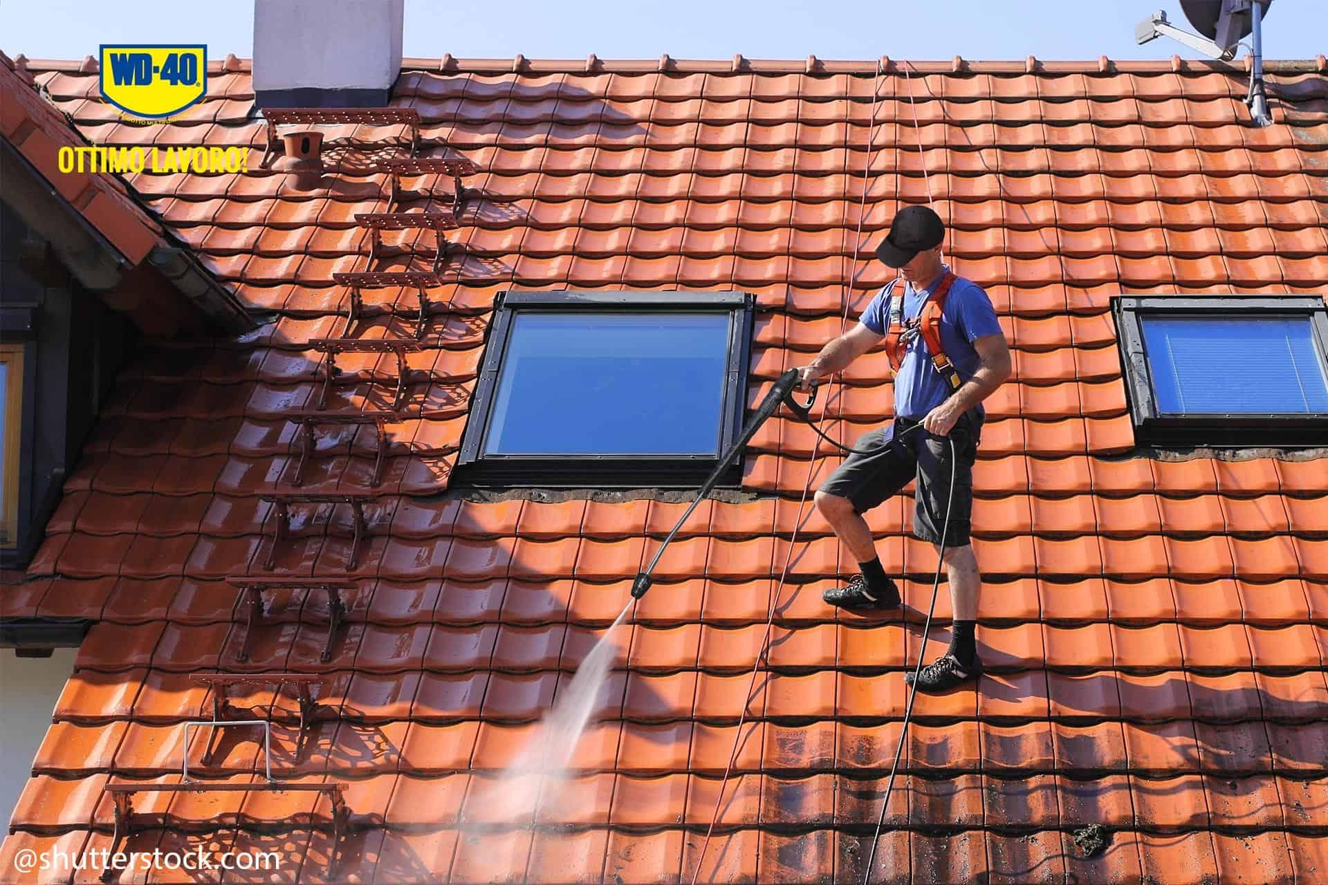 pulire il tetto