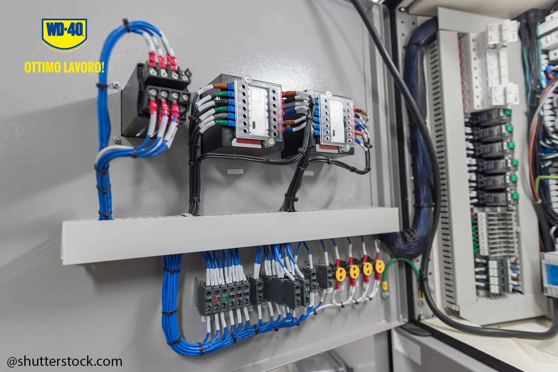 pulire i cablaggi elettrici