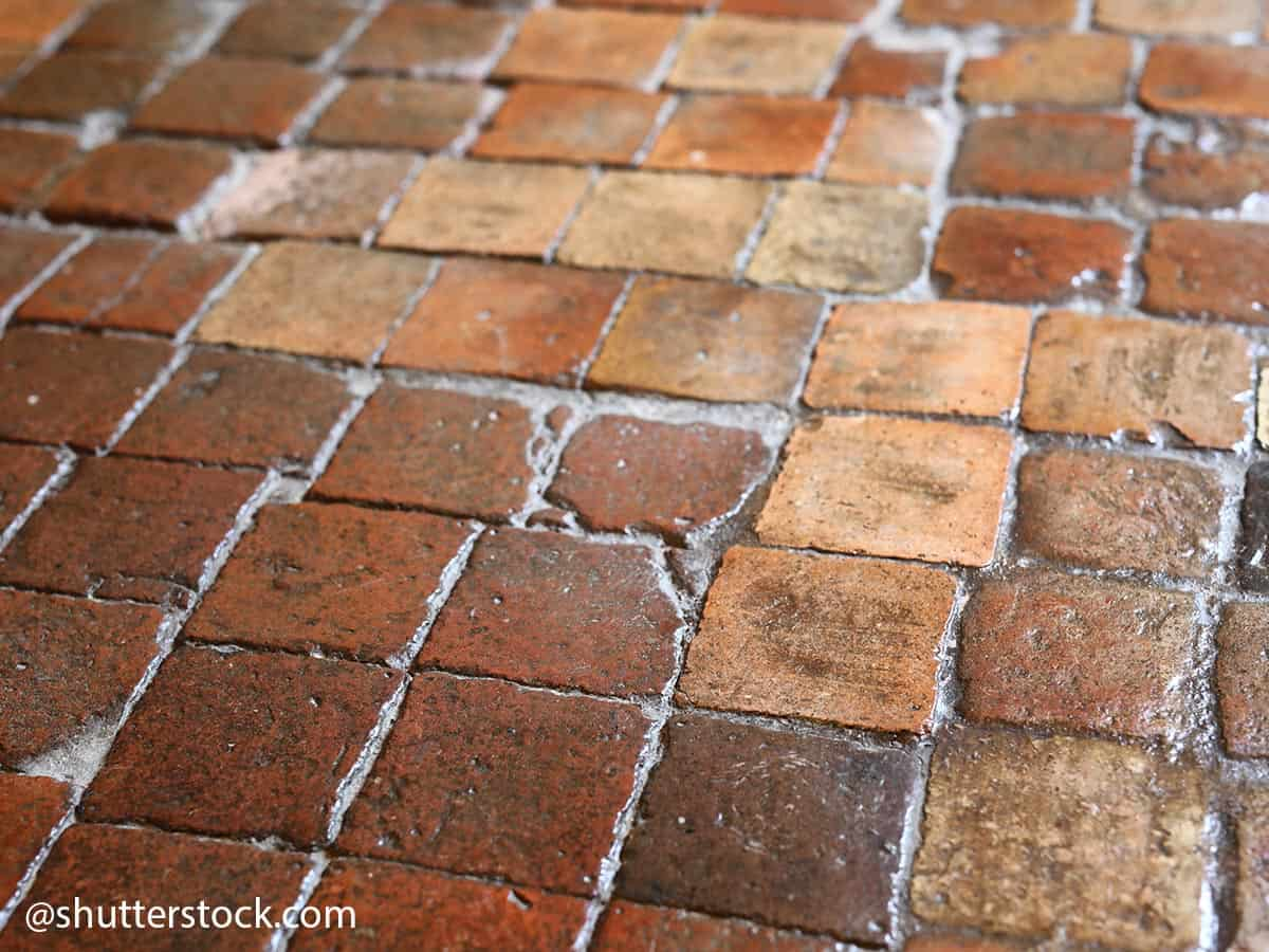 pavimento in terracotta