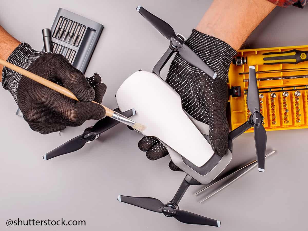 manutenzione bracci drone