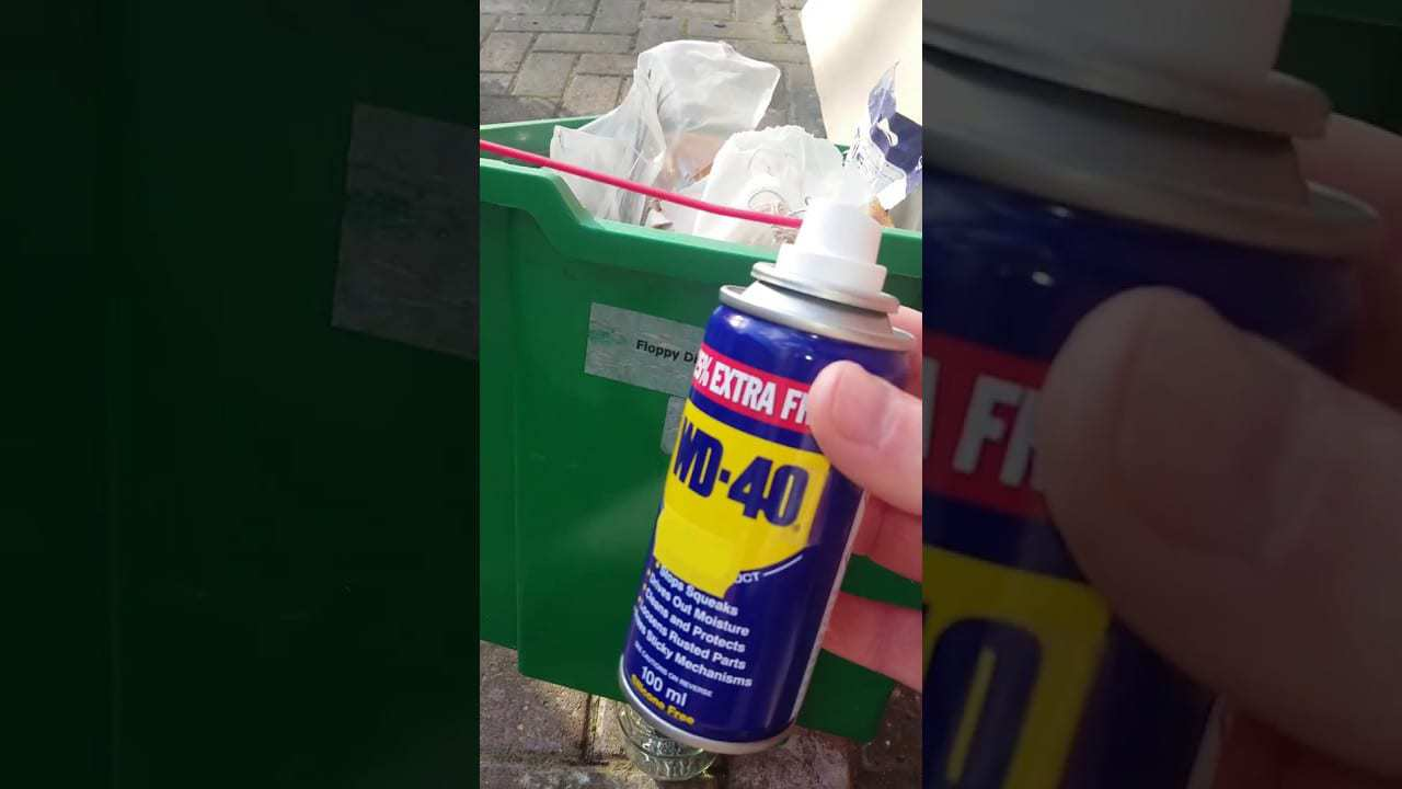 wd40 remove stickers