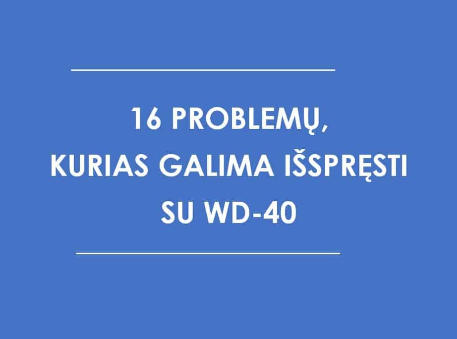16 su WD-40 išsprendžiamų problemų