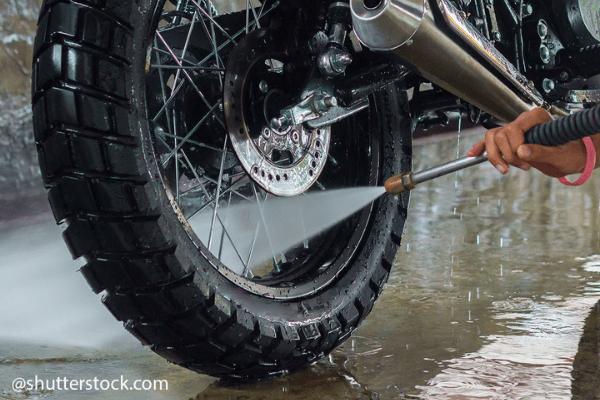 replace motorbike brake pads