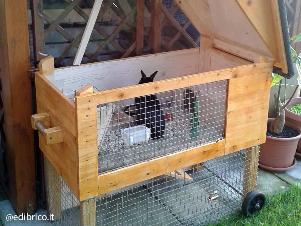 how to build a wooden rabbit hutch step 5