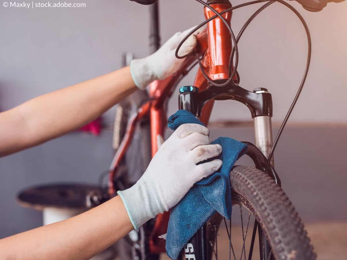 sécher le vélo